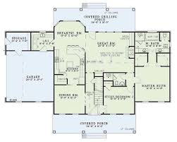 colonial style house plan 4 beds 2 50 baths 2603 sq ft plan 17 2068