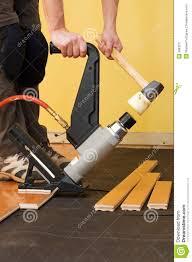 Installing Hardwood Floor Hardwood Floor Installation Stock Image Image 3983271