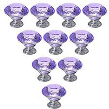glass cabinet pulls handles amazon com 10 pcs dresser knobs haoun crystal glass cabinet knobs