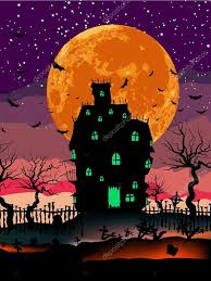 halloween haunted house background grungy halloween with haunted house eps 8 u2014 stock vector