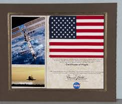 flag us flown on sts 98 atlantis sally ride national air and