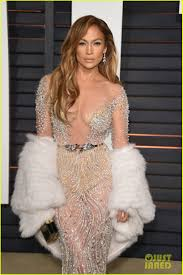 Vanity Fair After Oscar Party Jennifer Lopez Stuns In Sheer Dress At Oscars After Party 2015