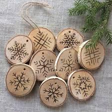 wood burning ornaments decore