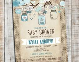 boy elephant baby shower invitation boy baby shower burlap