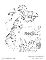 fancy punk little mermaid coloring pages in different article