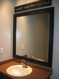 Vanity Mirror Bathroom by Bathroom Black Framed Bathroom Vanity Mirror Ideas Bathroom