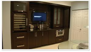 contemporary wet bar cabinets dark wood cabinetry beck allen