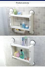 Suction Cup Bathroom Shelf Shelves Bathroom Accessories Suction Shelf Bath Caddy With