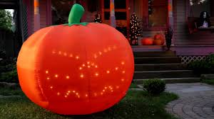 inflatable lightshow singing halloween pumpkin improvements