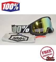 motocross goggles ebay 100 percent brand strata goggles mx atv motocross moto outlaw black