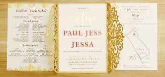 wedding invitations by wedding invitation gold laser cut gatefold wedding
