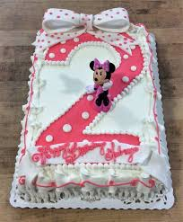 minnie mouse cakes minnie mouse sheet cake with fondant bow trefzger s bakery