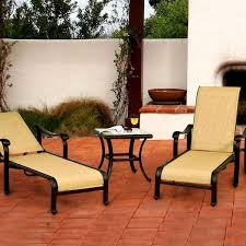 Sling Patio Chairs Venice Sling Outdoor Chaise Patio Set Caluco