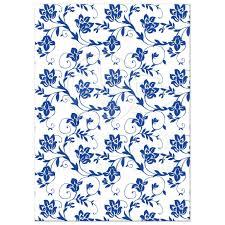 blue and yellow ribbon wedding invitation royal blue floral damask ribbon
