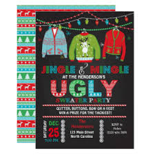sweater invitations announcements zazzle