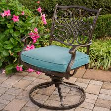 Outdoor Rockers Traditions 3 Piece Bistro Set With Two Swivel Rockers And A 32 In