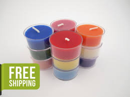Tea Light Candles Beeswax Tea Light Candles Set Of 12 In Assorted Colors