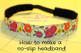 no slip headbands tutorial how to make a no slip headband thriving parents