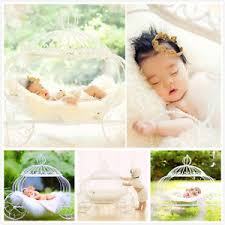 Newborn Photo Props Newborn Baby Photo Props Metal Pumpkin Car Cinderella Carriage