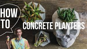 how to make concrete planters skull youtube