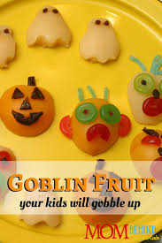 Easy Halloween Party Food Ideas For Kids Halloween Fruit Ideas For Kids Goblin Fruit U2022 Mom Behind The Curtain