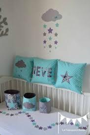chambre bébé gris et turquoise lot 3 coussins thème ange étoiles parme mauve violet argent gris