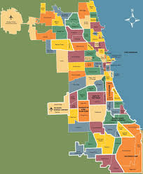 Chicago On A Map Series On Chicago Neighborhoods Skinny Tie Chuck Travel