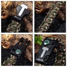survival bracelet with whistle images 5 in1 paracord survival bracelet compass flint fire starter jpg