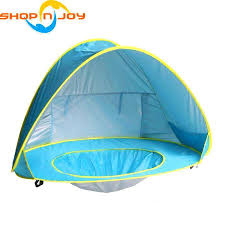 Beach Shade Umbrella Beach Tent Canopy Sun Shelter Pop Up Folding Outdoor Camping Shade