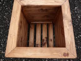 heavy duty square wooden garden planters 2 sizes uk made fully