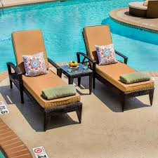 patio 3 piece set providence 3 piece resin wicker patio chaise lounge set with arms