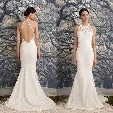 low back wedding dresses 2016 low back mermaid wedding dress halter neck