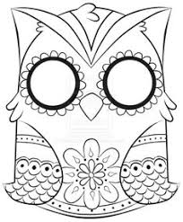 owl coloring pages owl coloring page clipart by karen arnold