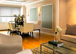 fabric panels for walls dining room contemporary with accent wall