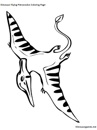 dinosaur flying pteranodon coloring page dinosaur coloring pages