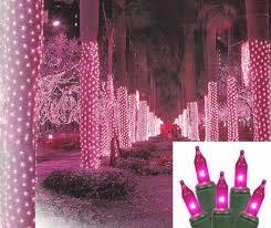 2 x 8 pink led net style tree trunk wrap lights