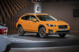 subaru crosstrek interior 2018 2018 subaru crosstrek the european version shown in geneva