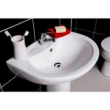 modern full bathroom suite with 1600mm bath toilet and wash basin