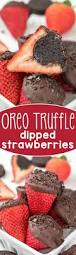 oreo truffle dipped strawberries crazy for crust