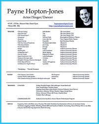 Actor Resume Special Skills A Resume Sample Resume Cv Cover Letter