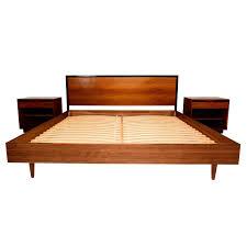 Modern Queen Size Bed Frame Mid Century Modern Queen Size Platform Bed Frame Integrated With