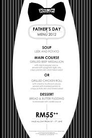 food street zouk cafe bar father u0027s day menu 2012