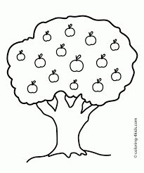 printable tree coloring pages for kids fall of a house picture
