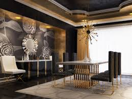 modrest kingsley modern marble u0026 rosegold buffet buffets dining