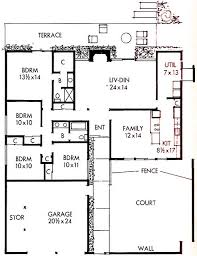 eichler home plans 26 best eichler floor plans images on pinterest modern floor