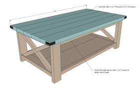 coffee table building plans ana white rustic x coffee table diy projects