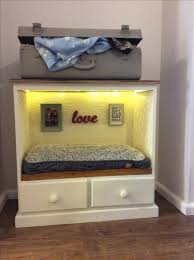 Dog Bed Nightstand Up Cycled Dog Bed Made From Old Drawers With An Old Suitcase For
