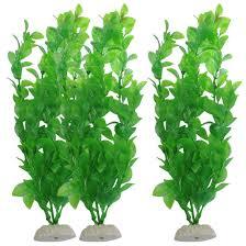 amazon com uxcell 3 piece fish tank artificial plants 10 6 inch