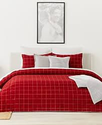 White And Red Comforter Lacoste Bedding Towels And Sheets Macy U0027s