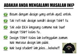 design t shirt paling cantik cetak t shirt kelas anda disini